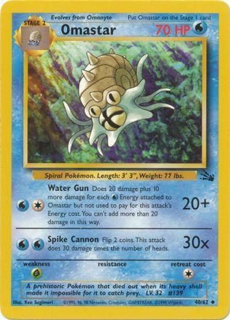 Pokemon Fossil Uncommon Omastar #40