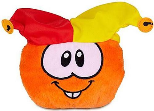 Club Penguin Series 12 Orange Puffle 4-Inch Plush [Jester Hat]