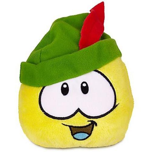 Club Penguin Series 12 Yellow Puffle 4-Inch Plush [Robinhood Sherwood Hat]