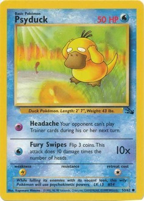 Pokemon Fossil Common Psyduck #53