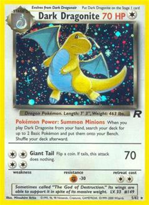 Pokemon Team Rocket Rare Holo Dark Dragonite #5