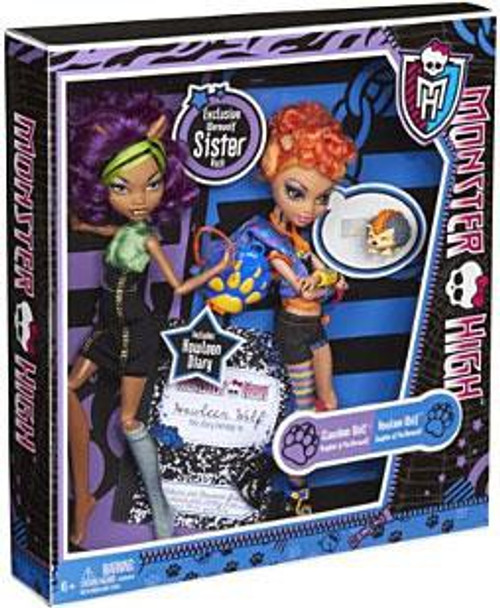 Monster High Clawdeen & Howleen Wolf Exclusive 10.5-Inch Doll 2-Pack