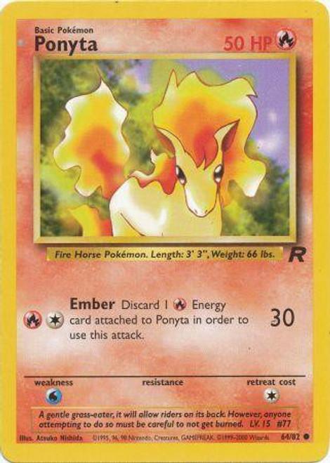 Pokemon Team Rocket Common Ponyta #64