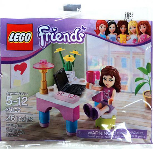 LEGO Friends Olivia's Desk Mini Set #30102 [Bagged]
