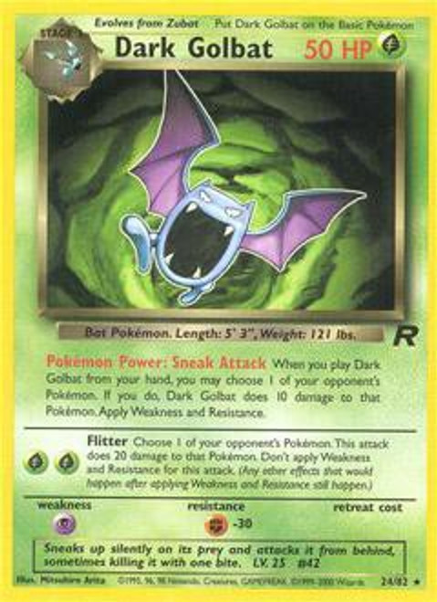 Pokemon Team Rocket Rare Dark Golbat #24