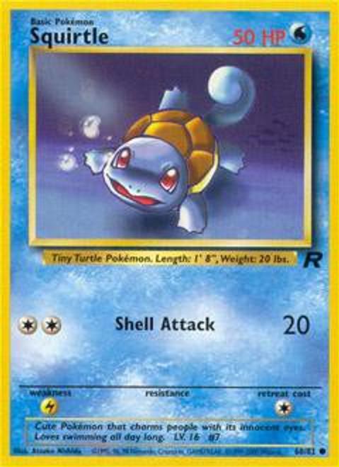 Pokemon Team Rocket Common Squirtle #68