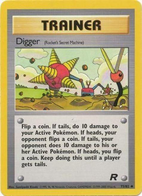 Pokemon Team Rocket Uncommon Digger #75