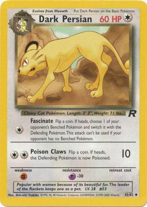 Pokemon Team Rocket Uncommon Dark Persian #42