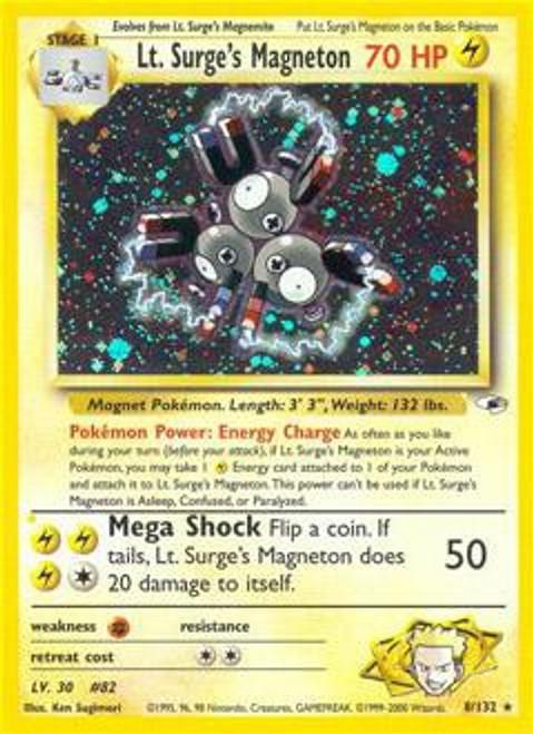Pokemon Gym Heroes Rare Holo Lt. Surge's Magneton #8