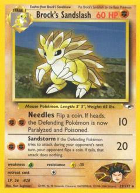 Pokemon Gym Heroes Rare Brock's Sandslash #23