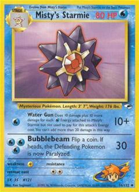 Pokemon Gym Heroes Uncommon Misty's Starmie #56