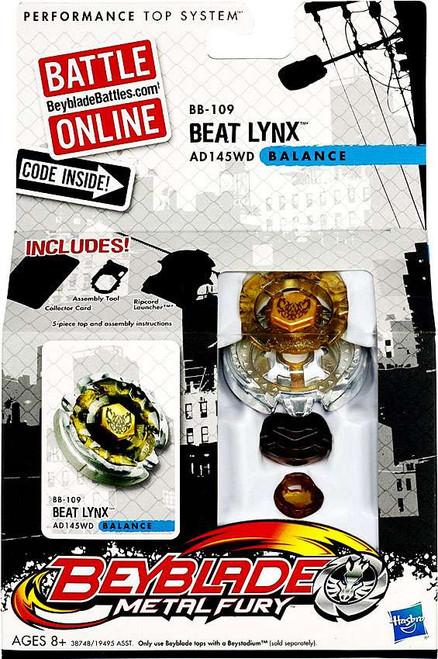 Beyblade Metal Fury Balance Beat Lynx Single Pack BB-109