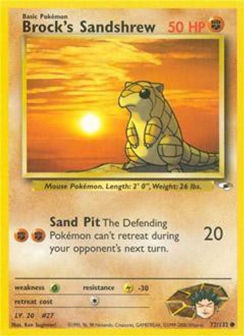 Pokemon Gym Heroes Common Brock's Sandshrew #72