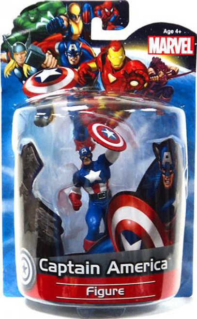 Marvel 4 Inch Deluxe Figures Captain America PVC Figure