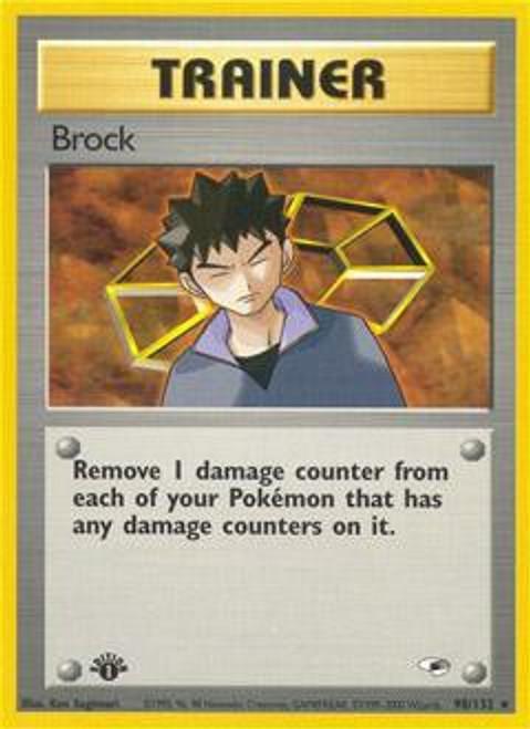 Pokemon Gym Heroes Rare Brock #98