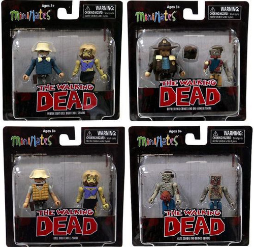 Minimates Series 1 The Walking Dead Series 1 Set of 4 Minifigure 2-Packs