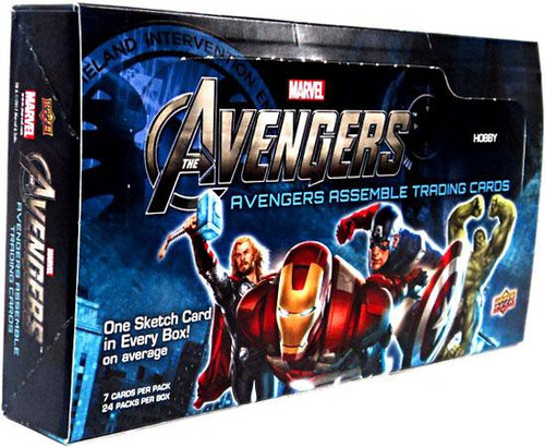 Marvel Avengers Assemble Trading Card Box