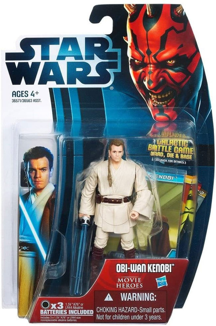 Star Wars Phantom Menace 2012 Movie Heroes Obi-Wan Kenobi Action Figure #16 [Version 2]
