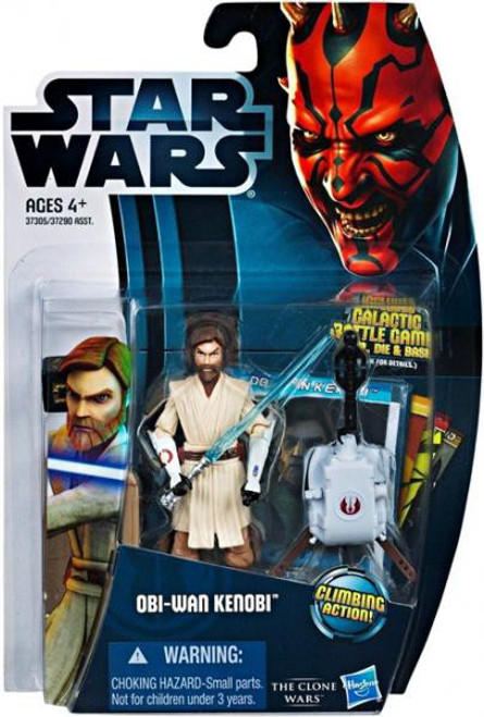 Star Wars The Clone Wars 2012 Obi-Wan Kenobi Action Figure CW12