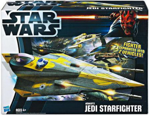 Star Wars The Clone Wars Vehicles 2012 Anakin's Jedi Starfighter Action Figure Vehicle