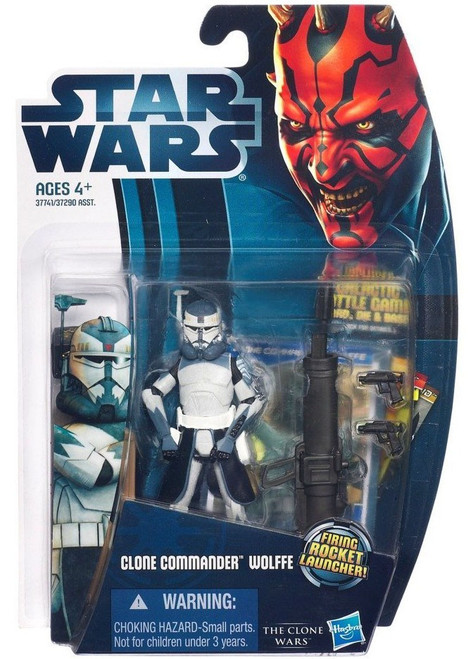 Star Wars The Clone Wars 2012 Clone Commander Wolffe Action Figure CW17