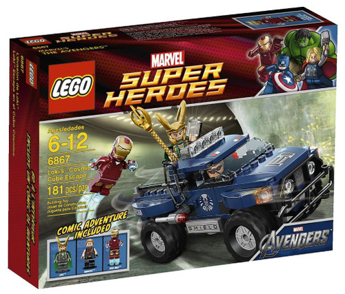 LEGO Marvel Super Heroes Avengers Loki's Cosmic Cube Escape Set #6867