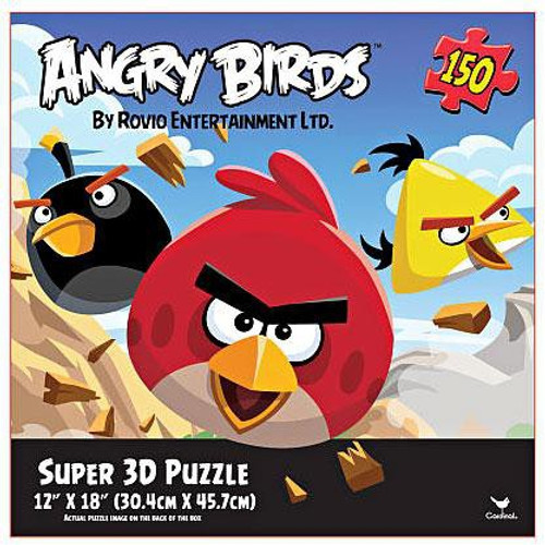 Angry Birds Super 3D 12-Inch x 18-Inch Puzzle [150 Pieces]