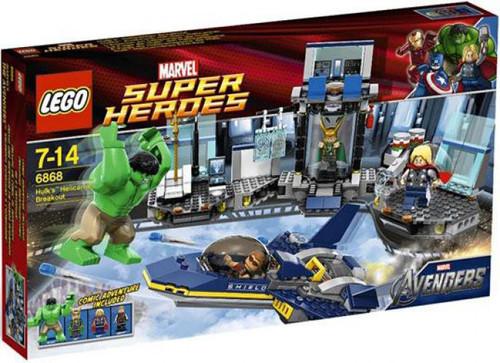 LEGO Marvel Super Heroes Avengers Hulk's Helicarrier Breakout Set #6868