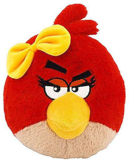 Angry Birds Red Girl Bird 12-Inch Plush [With Sound]