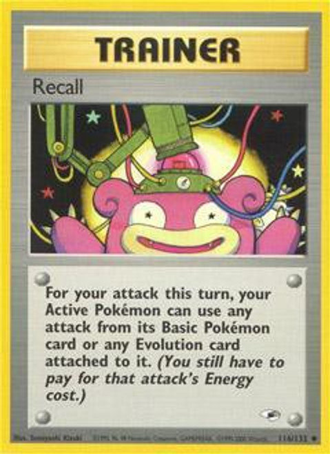 Pokemon Gym Heroes Uncommon Recall #116