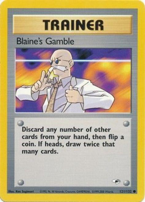 Pokemon Gym Heroes Common Blaine's Gamble #121
