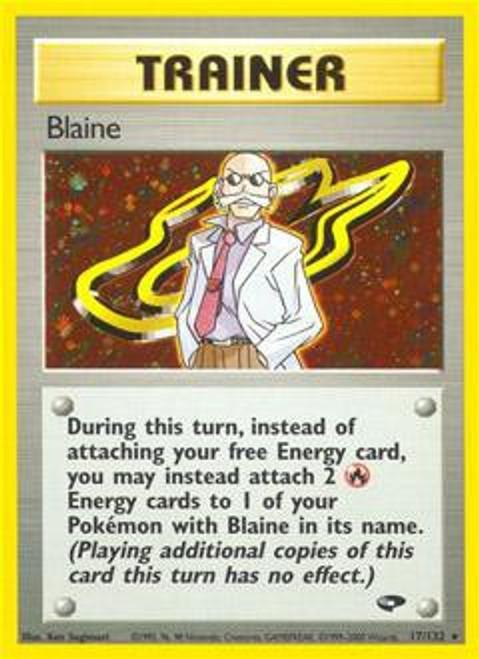 Pokemon Gym Challenge Rare Holo Blaine #17