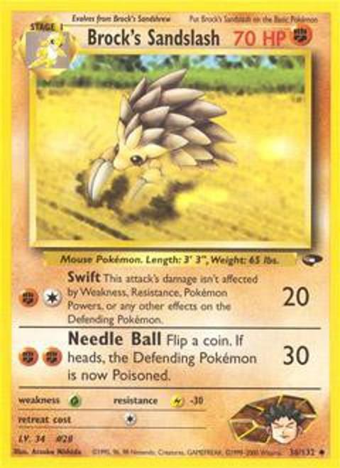 Pokemon Gym Challenge Uncommon Brock's Sandslash #36