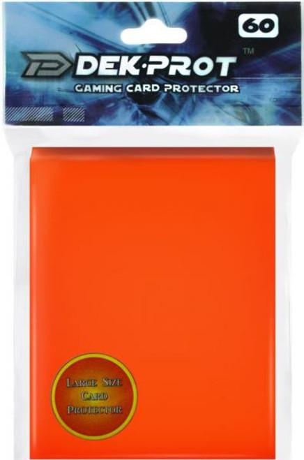 Card Supplies Gaming Card Protectors Tulip Orange Standard Card Sleeves [60 Count]