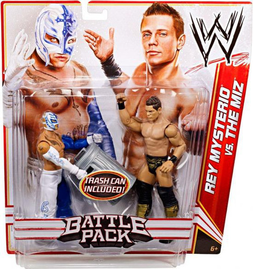 WWE Wrestling Battle Pack Series 17 Rey Mysterio vs. The Miz Action Figure 2-Pack [Trash Can]