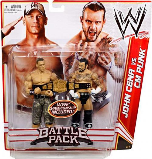 WWE Wrestling Battle Pack Series 17 John Cena vs. CM Punk Action Figure 2-Pack [WWE Championship]