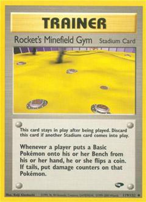 Pokemon Gym Challenge Uncommon Rocket's Minefield Gym #119