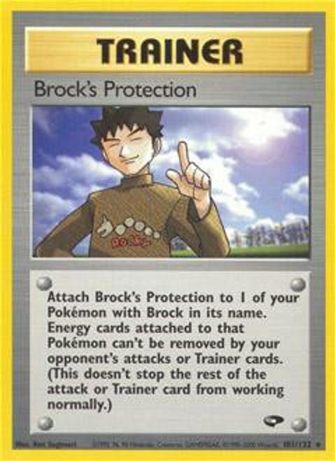 Pokemon Gym Challenge Rare Brock's Protection #101
