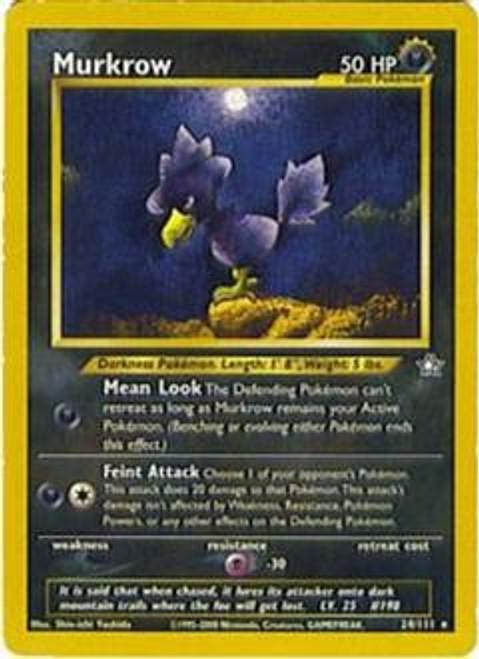 Pokemon Neo Genesis Rare Murkrow #24