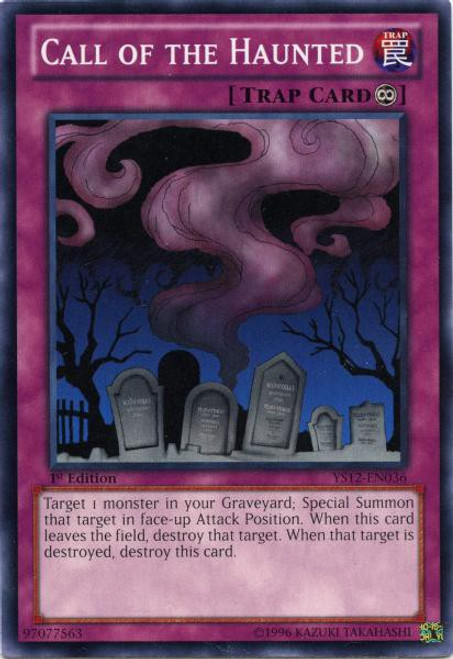 YuGiOh Trading Card Game 2012 XYZ Symphony Starter Deck Common Call of the Haunted YS12-EN036