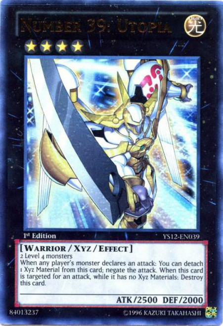 YuGiOh Trading Card Game 2012 XYZ Symphony Starter Deck Ultra Rare Number 39: Utopia YS12-EN039