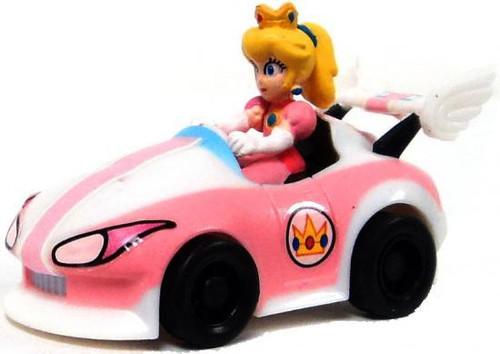 Super Mario Mario Kart Gacha Princess Peach in Car 1.5-Inch Pull Back Racer