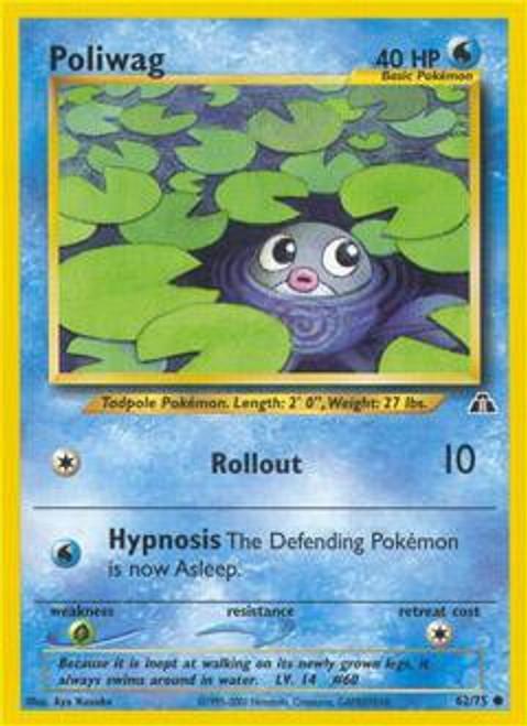 Pokemon Neo Discovery Common Poliwag #62