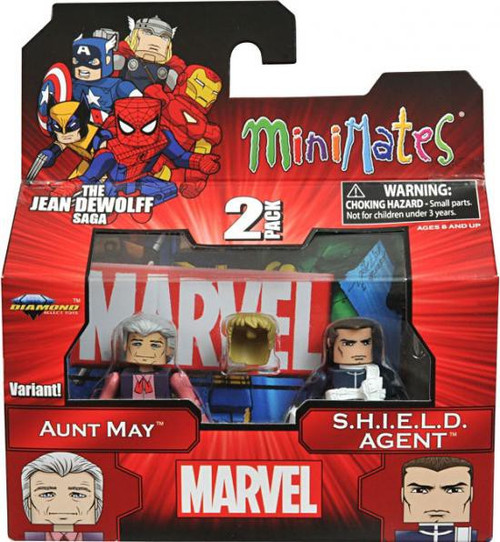 Marvel 43 Aunt May & SHIELD Agent Minifigure 2-Pack [Variant]