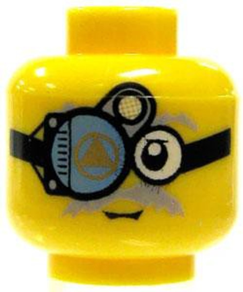 Thin Gray Moustache & Viewing Apparatus Minifigure Head [Yellow Loose]