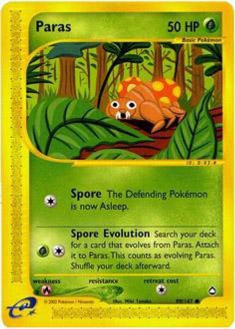 Pokemon Aquapolis Common Paras #99
