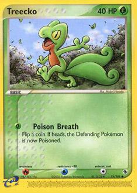 Pokemon EX Ruby & Sapphire Common Treecko #75