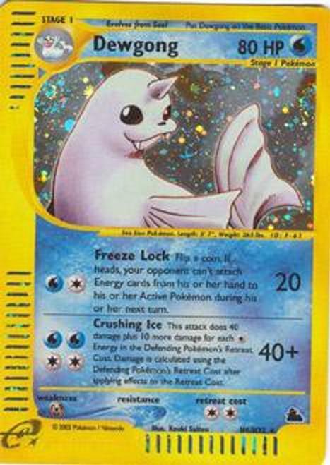 Pokemon Skyridge Rare Holo Dewgong H6