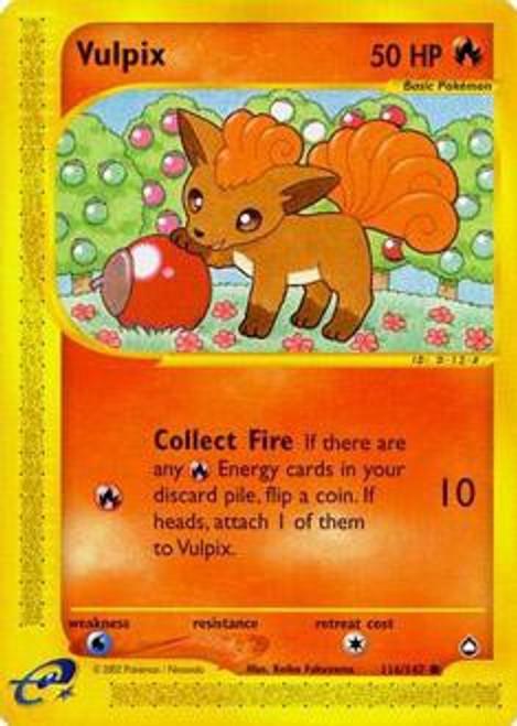 Pokemon Aquapolis Common Vulpix #116