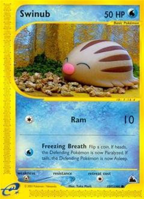 Pokemon Skyridge Common Swinub #107